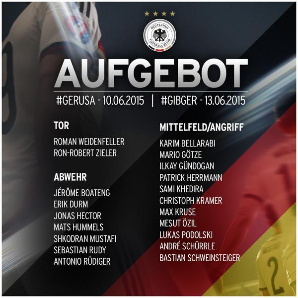 DFB-Kader gegen USA und Gibraltar © DFB